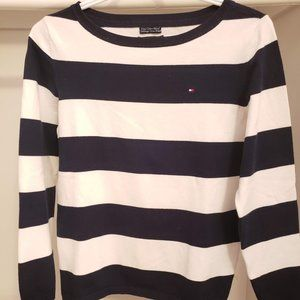 Tommy Hilfiger Long sleeves T-Shirt blue and white